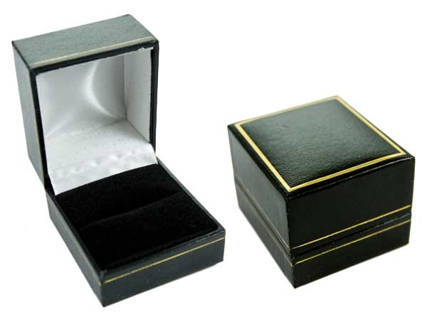 Ring Box Black 4.6X5.3X3.2cm