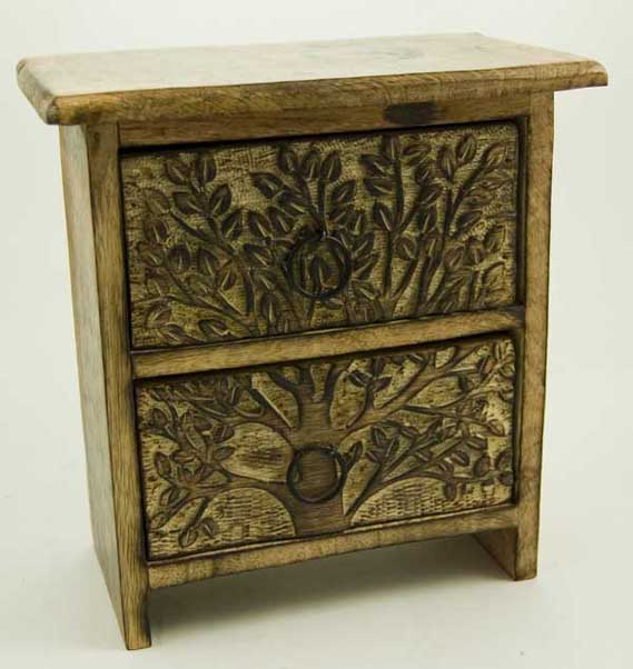 Chest Of 2 Drawers Wood